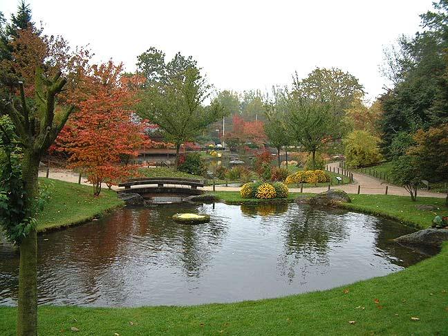 японский сад озеро мост бельгия хасселт