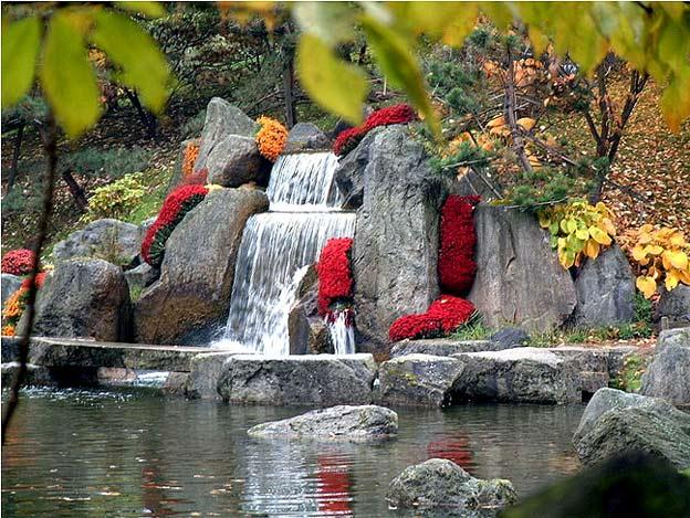 японский сад озеро водопад бельгия хасселт