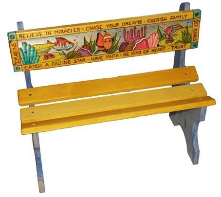 Рисунок на скамейке своими руками 87