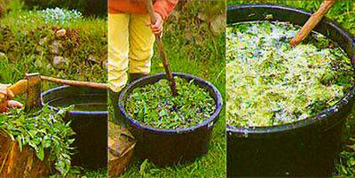 Как приготовить жидкое удобрение из травы