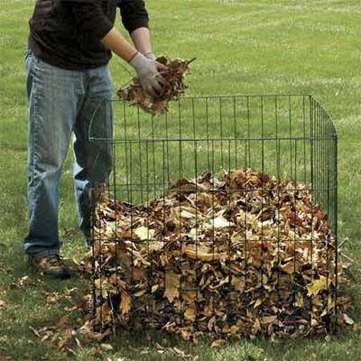 Подготовка листьев к компостированию