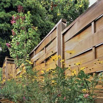 Плетеный забор из шпона 8
