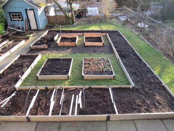 Планировка огорода под посадку овощей